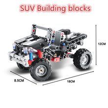 Technic 3342 Building Blocks Transport Jeep Vanguard SUV Racing Car Model Educational DIY Bricks Toys Kids Boy Toys