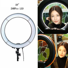 "Best 18"" 55W 5500K Daylight Fluorescent Diva LED Ring Light Lamp for Photography Camera Phone Video Photo Make Up Selfie 220V"
