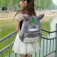 Anime Tonari no Totoro cos Cartoon Lovely plush backpack Fashion birthday present bag Totoro Shoulders Bag Knapsack
