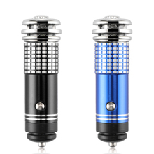 Car Air Purifier Oxygen Bar Ionizer Interior Cleaner LED Blue Light Car Fresh Air Ionic Purifier Remove Smoke(China)