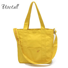 Brand original Women Female Japanese Korean Casual Cute Zipper Solid Color Canvas Bag Shoulder Bags High-capacity Shopping Bags(China)
