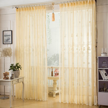 Curtains for living room modern sheer bedroom  luxury  tulle hanging loop panel and jacquard floral custom made curtains
