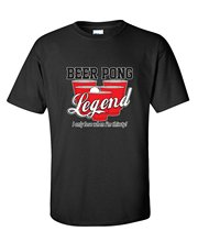 Linen Shirts New Style Crew Neck Beer Pong Legend I Only Lose When Im Thirsty Drinking Short-Sleeve Tee Shirt For Men