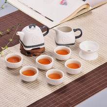 Buy 10 Pcs Chinese pottery Kung Fu Teapot Set Green Jasmine Tea Traditional Tea pot Set 6 Ceramic Porcelain Cups for $39.27 in AliExpress store