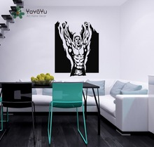 Boxer Flaming Man Champion Sport Sportsman Gym Wall Vinyl Decal Sticker Housewares Art Murals Interior Decor Bedroom Mural NY-32(China)