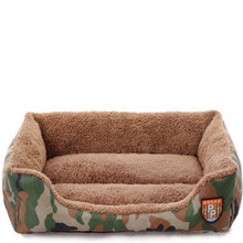 Pet Dog House Warming Soft Bed Material Pet Litter of Woodland Camouflage Dog Fall and Winter Warm Nest Cat Litter Size