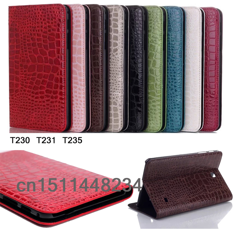 luxury Fashion crocodile leather case cover for samsung galaxy Tab 4 7.0 T230 T231 T235 Stand Smart case<br><br>Aliexpress