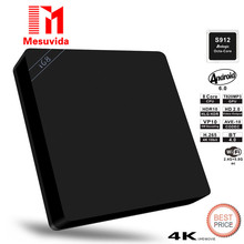 Mesuvida I68 S912 Smart TV Box Android 6.0 Amlogic S912 Octa Core 2G+16G Dual Band 2/5G WiFi BT 4.0 Set top Box Media Player
