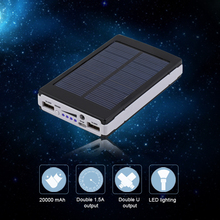 10000mAh Portable Emergency Super Solar Charger Dual USB External Battery Power Bank For Mobile Phones & Tablets Drop Shipping