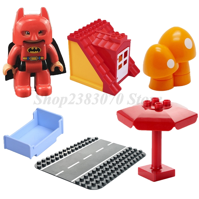 Legoing Duplo Accessory Tables Chair Toilet Sofa Furniture Compatible Legoings Figures Building Blocks Kids Toys Christmas Gifts