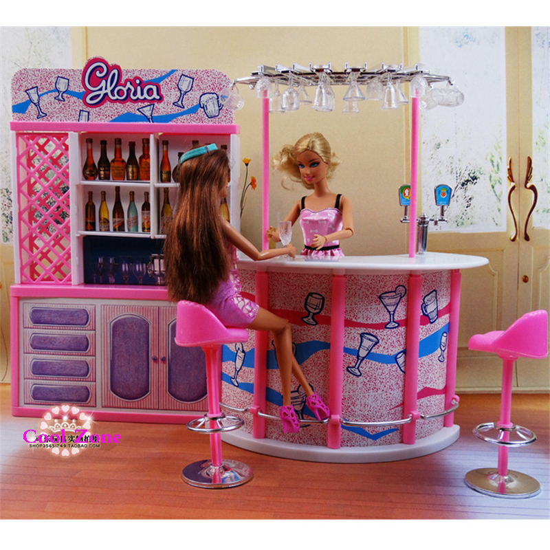Miniature Furniture Happy Hour Relax Time for Barbie Doll House Pretend Play Toys for Girl Free Shipping<br>