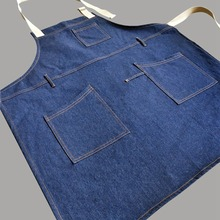 Working Aprons Adjustable Belt Ladies Apron Coffee House Restaurant Kitchen Supplies Pocket Apron for Women Men(China)
