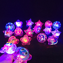 10pcs Kids LED Flashing Light Up Glowing Finger Ring Electronic Christmas Halloween Baby Fun Toys Gifts for Children event party