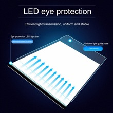 A4 LED Artist Thin Art Stencil Drawing Board Light Box Tracing Table Pad Board With Compact and Elegant Design