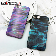 LOVECOM Mirage Colorful Gradient Lines Phone Case For iPhone 6 6S Plus 7 7 Plus Coque Back Cover Soft TPU IMD Silicon Shell Capa(China)