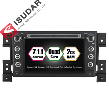 Android 7.1.1 Two Din 7 Inch Car DVD Player For SUZUKI/Grand vitara 2005- RAM 2G ROM 16GB GPS Navigation Radio WIFI FM(China)