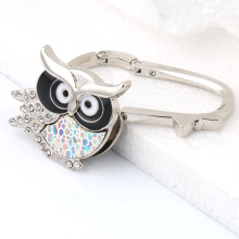 New Hot Sale Colorful Stone Owl Folding Bag Handbag Purse Table Hook Hanger Holder