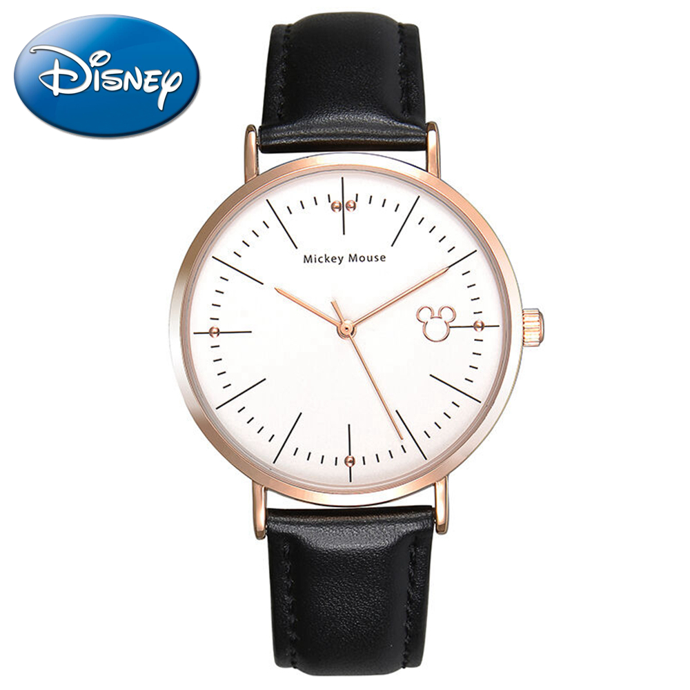 Famous Disney simple original leather band watch Women fashion casual quartz watches Hot Girls love Mickey mouse 11021 hour gift<br><br>Aliexpress