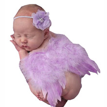 2016 New Handmade Pearl and Diamond Feather Angel Wings Baby Photo Photography Props Newborn Outfits Clothes Set Factory Outlets