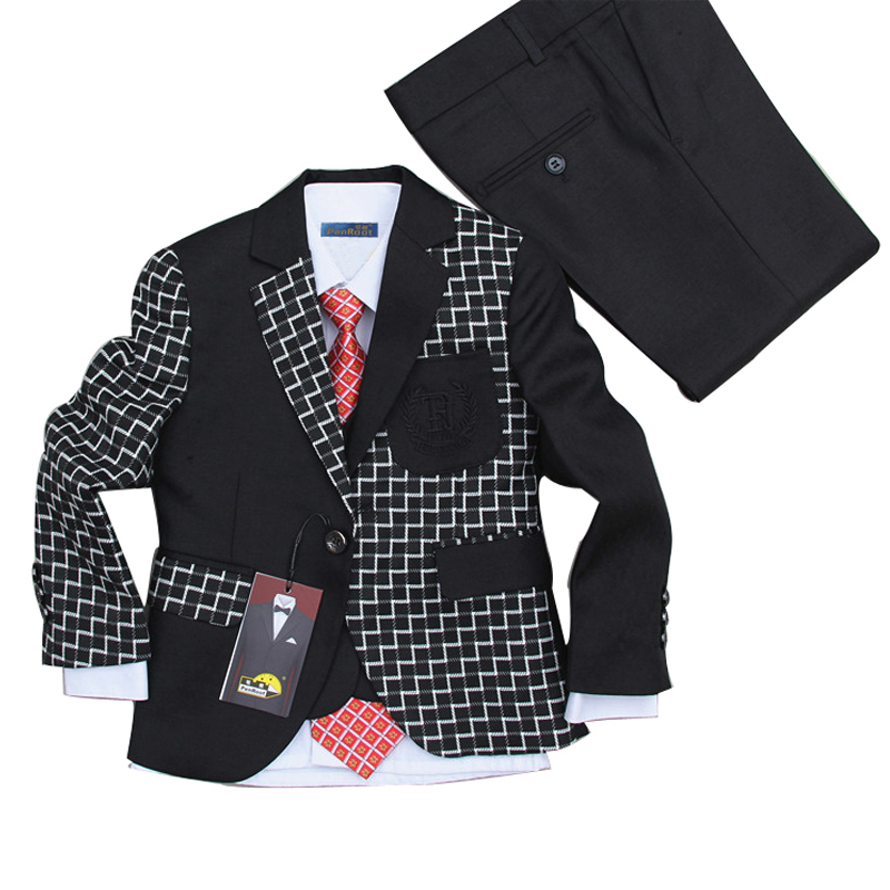 Boys Suits for Weddings Kids Tuxedo Suit Children Wedding Attire Black Occasion Dress Suits<br>