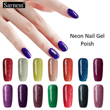 Sarness 19 Colors 8ML Glitter Neon UV Gel Nail Polish DIY Beauty All UV Gel Primer Led Nail Gel Polish for Nails Nail Art(China)