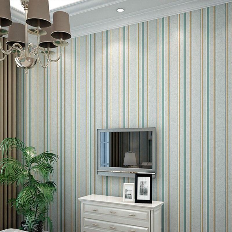 Vertical Stripes Wallpaper Roll Modern Bedroom Wallpaper for Walls Natural Silk Striped Wallpapers for Living Room Walls <br><br>Aliexpress