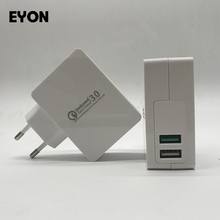 EYON 18W Quick Charge 3.0 Dual USB Turbo Wall Fast Charger QC 3.0 Charging Adapter For Samsung S7 S6 Edge HUAWEI P9 Xiaomi MI5S(China)