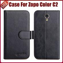 Hot Sale! Zopo Color C2 Case New Arrival 6 Colors High Quality Flip Leather Protective Cover Zopo Color C2 Case