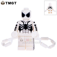 TMGT 20pcs/lot WM332 White Spiderman With Climbing Rope Vine String Building Blocks Children Gifts Toys Drop Shipping