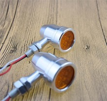 Motorcycle Mini Turn Signal lights Custom Cafe Racer Flashers