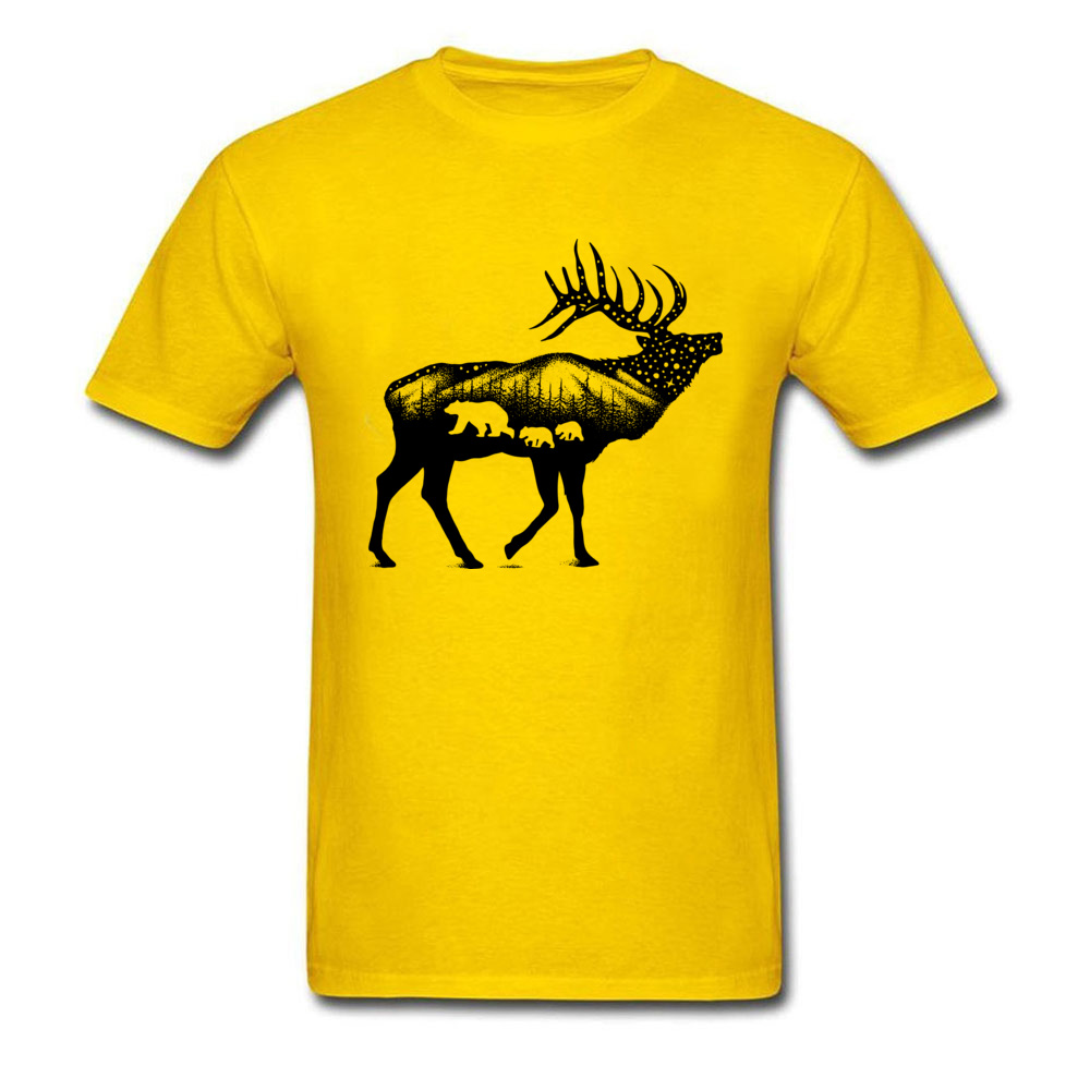 ELK 100% Coon Fabric Tshirts for Boys Short Sleeve Cool Tops T Shirt Graphic Summer O Neck T-Shirt Normal Wholesale ELK yellow