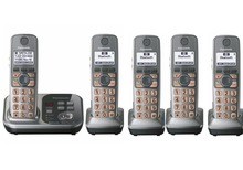 5 Handsets KX-TG7731 1.9 GHz Digital wireless phone DECT 6.0 Link to Cell via Bluetooth Cordless Phone with  Answering system