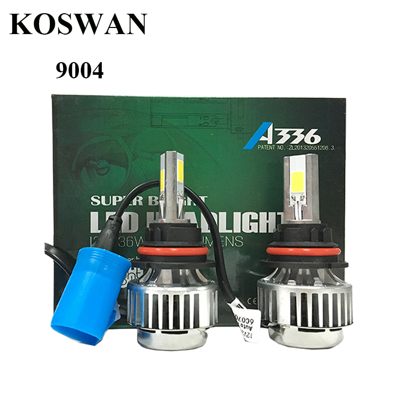 A336 9004 HB1 6600LM LED Headlights Kit 72W 6000K White Hi+Low Dual Beam Bulbs LED Headlight Bulb Lamp 9004 9007 Available<br><br>Aliexpress
