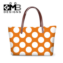Dispalang factory direct wholesale multicolor small big dot handbags new style women's evening handbag ladies fashion totes bags(China)