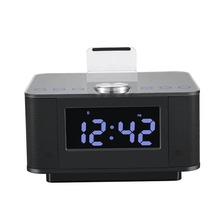 New Dual USB Speaker Docking Station Bluetooth V2.1+EDR Alarm Clock Dock with radio for Android For iPhone iPad Smartphones