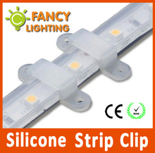 50 pieces/lot LED strip accessory Fixed Holder Silicone Strip Clip for SMD5050/2835/3014/5730/3528 fix on the Strip light