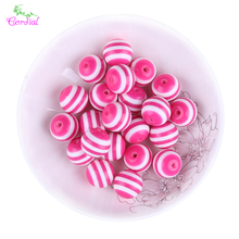 Free Shipping! 250pcs 16mm Hot Pink Colored Color Resin Stripe Beads For Jewelry Making For Ebay Suppliers CDWB-517874
