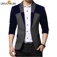 UNIVOS KUNI Blazers Men Fashion Men's Blazer Suit Dress Patchwork Suits For Men Blazers Business Jacket Masculino Z2360
