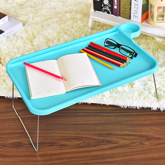 Notebook computer desk bed standing desk folding table bed lazy small desk bed tray<br>