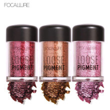 FOCALLURE Band Eye Shadow 12 Colors Glitte Eyes Powder Palette Easy to Wear Diamond Loose Powder Eyes Pigment Eyeshadow Palette