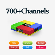 T95K 2GB DDR3 Run Faster Android 6.0 TV Box with 600+ Arabic Europe French Sport News Travel IPTV Subscription 4k HD Tv Receiver