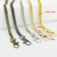 120cm Metal Chain For Shoulder Bags Handbag Buckle Handle DIY Strap Accessories for Bag Hardware Double Woven Iron Chain