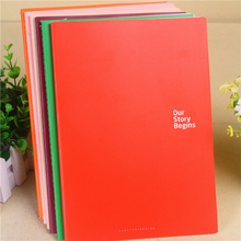 1pc 25.5*18cm Simple Money Notebook Large Size Car Line 18K Notebook 48sheets Business Notebook Korean Stationery Diary Book(China)