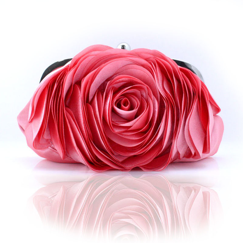 Vintage Ladies Floral Evening Bag Woman Fashion Rose Flower Chain Hand Bag Wedding Party Clutch Dinner Small Purse bolso XA140H<br><br>Aliexpress
