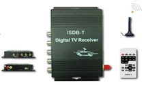 For Free shipping  External Automobile Digital TV TUNERS ISDB-T TV receiver for South America