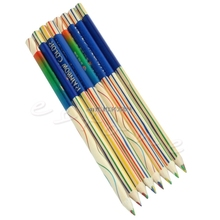 8Pcs/Lot Rainbow Color Pencil 4 in 1 Colored Drawing Painting Pencils Set New