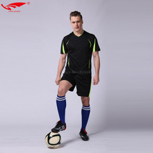 Survetement football 2017 college soccer jerseys men soccer sets customized jeresys 100% Polyester football uniforms 6 colors(China)