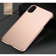 X-LEVEL for iPhone X Original Phone Case Metallic Slim PC Hard Mobile Casing Cover for iPhone X Capa Coque - Gold/Red/Black