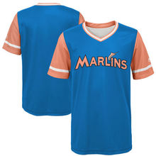 MLB Youth Miami Marlins Baseball Blue 2017 Players Weekend Team Jersey(China)