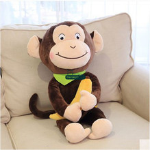 Dorimytrader New 24'' / 60cm Gift Toy Funny Stuffed Soft Plush Giant Animal Monkey Gorilla Toy 2 Colors Free Shipping DY60775